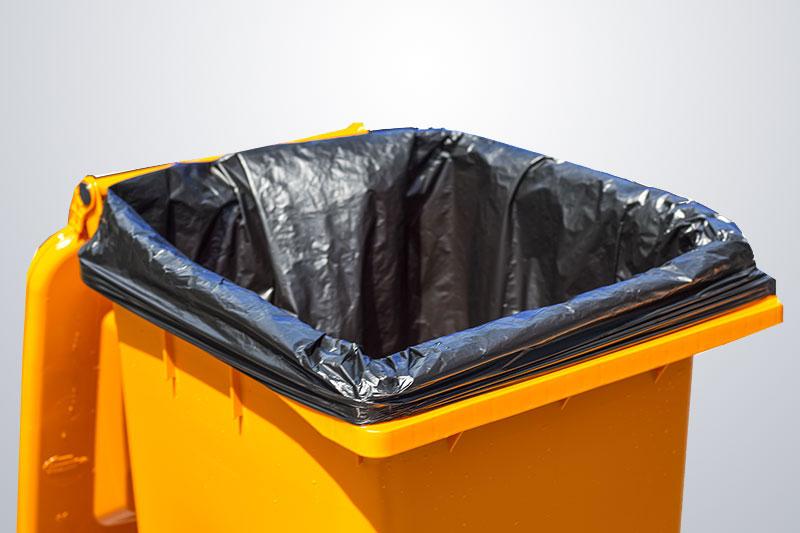 garbage bag, trash bag, refuse bag, bin liner